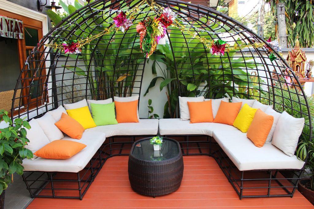 salon de jardin extérieur